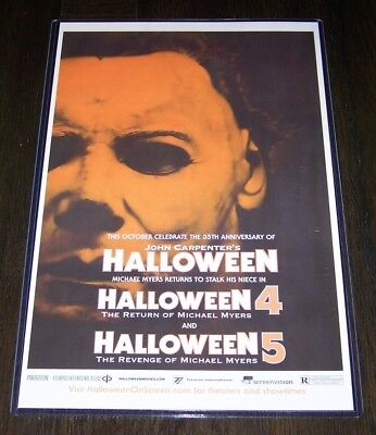 Halloween 35th Anniversary 4 5  11X17 Movie Poster Michael Myers - Halloween 5 Poster