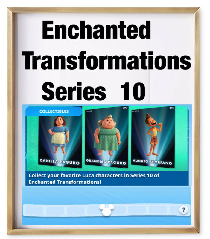 ENCHANTED TRANSFORMATIONS SERIES 10 SET-4 TILT CARDS-TOPPS DISNEY COLLECT