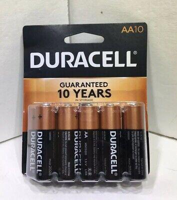 Duracell 10-Pack AA Batteries AA10 Best Alkaline Battery Coppertop Exp In