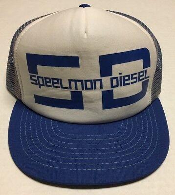 Vtg Speelmon Diesel Trucker Hat Williston North Dakota Oilfield Oil Gas Cap ND