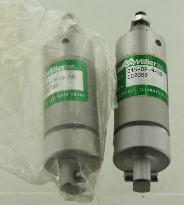 2 Miller 045-dp-9-50 Pneumatic Cylinder Lot New