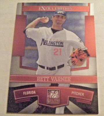 For sale RETT VARNER TEXAS-ARLINGTON 2010 Donruss Elite baseball card BEDFORD JUSTIN TX
