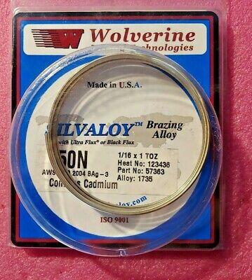 Wolverine Silvaloy 57363 Brazing Alloy 116 X 1 Toz 50n