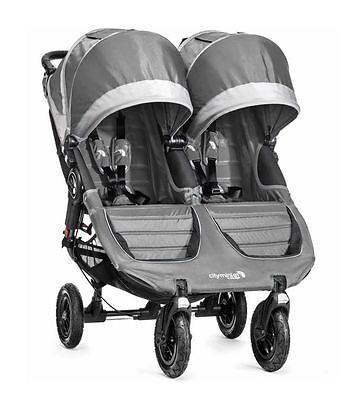 City Mini GT Double Stroller by Baby Jogger Steel Grey 2016 Display (Baby Jogger City Mini Gt Double 2016)