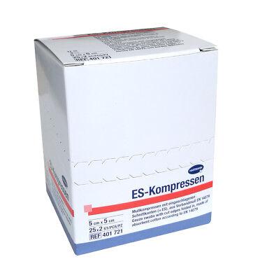 ES-Kompressen steril 8-fach 5 x 5 cm sterile Kompressen Wundauflage Hartmann