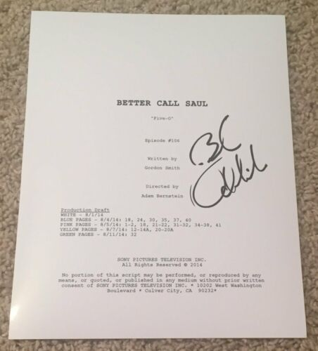 BOB ODENKIRK SIGNED AUTOGRAPH BETTER CALL SAUL 51 PAGE FULL SCRIPT w/EXACT PROOF
