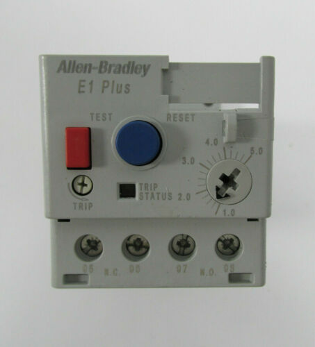 Allen Bradley 193-ED1CB Relay, Overload, 1.0 - 5.0A, E1 Plus Trip Class 10
