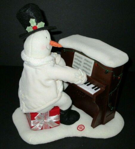 Hallmark Jingle Pals Snowman Piano Playing Singing Lights NO MOVEMENT