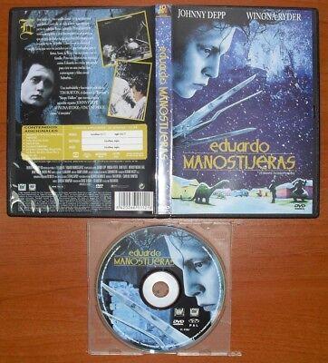 Eduardo manostijeras (Edward scissorhands) [DVD] Johnny Depp, Winona Ryder segunda mano  Embacar hacia Mexico