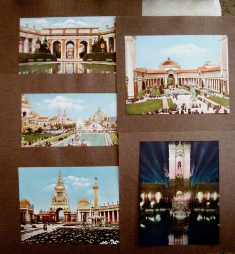 (9) Beautiful Colored Prints of Buildings at 1915 Pan-Pacific Int. Expo. S.F. *