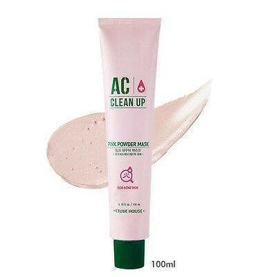 *Etude House* (New!) AC Clean up Pink Powder Mask 100ml - Korea Cosmetic