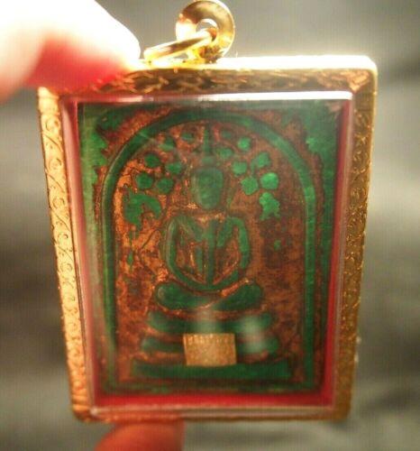 Big Size Green Jade Phra Somdej Prokpoh Wat Prakaew Wangna Thai Buddha Amulet