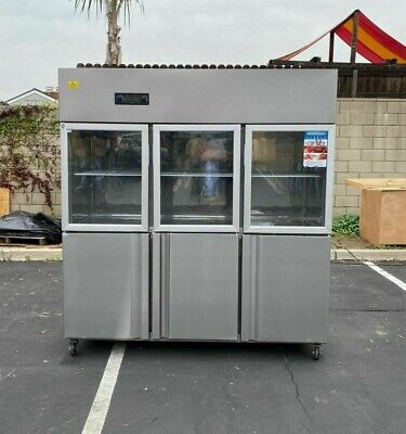 72 Commercial 6 Door Refrigerator Freezer Combo Reach In Upright Model Rg46 New