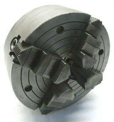 8 Independent 4-jaw Lathe Chuck W Plain Back Mount