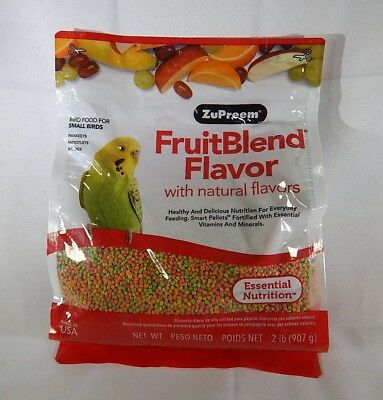 ZuPreem Fruit Blend 2lb Bird Food for Small Birds Parakeets T2