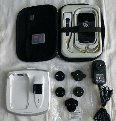 Ge V-scan Gm000350 Handheld Ultrasound Portable Machine W Docking Station
