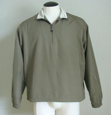 Nike Golf Tan 1/4 Zip Pullover Windbreaker Jacket Coat Size Men's Medium