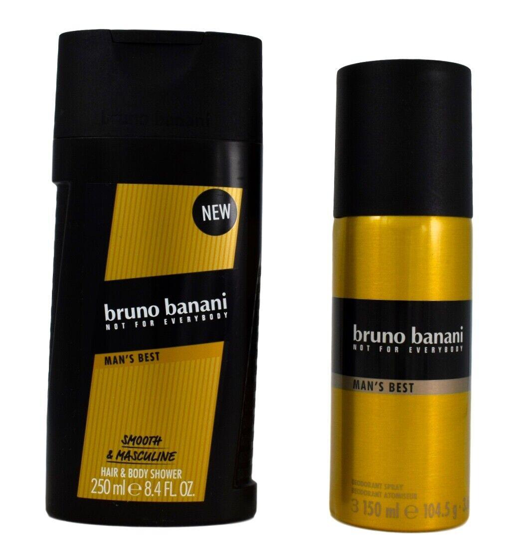 bruno banani Man´s Best Duschgel & Shampoo 250ml + Deodorant Spray 150ml