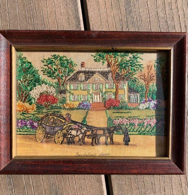 Vintage Hiawatha Genuine Needlework Stitch Painting Longfellow