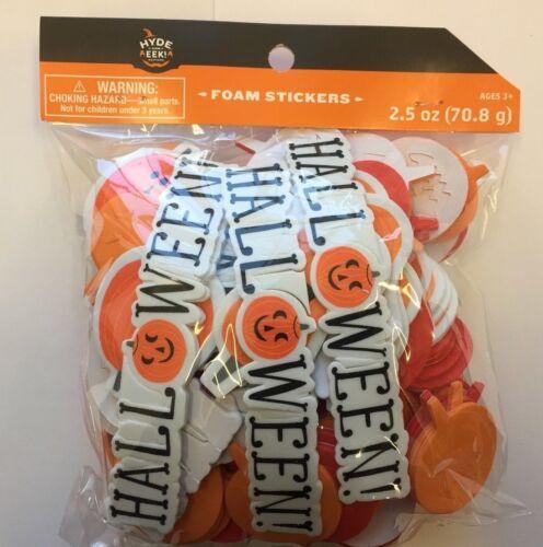 Happy Halloween Self Adhesive Foam Stickers Teacher Supply pumpkins party craft