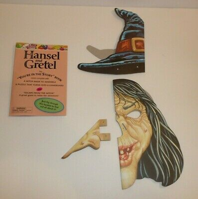 Hansel And Gretel Witch Costume (Hansel and Gretel Witch Mask Children's Ugly Odd Weird Halloween Costume)