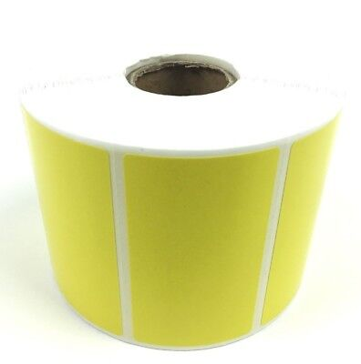 New 1 Roll Of 1000 Thermal Labels Yellow 2.25 X 1.25 Zebra 1 Core Direct Fba