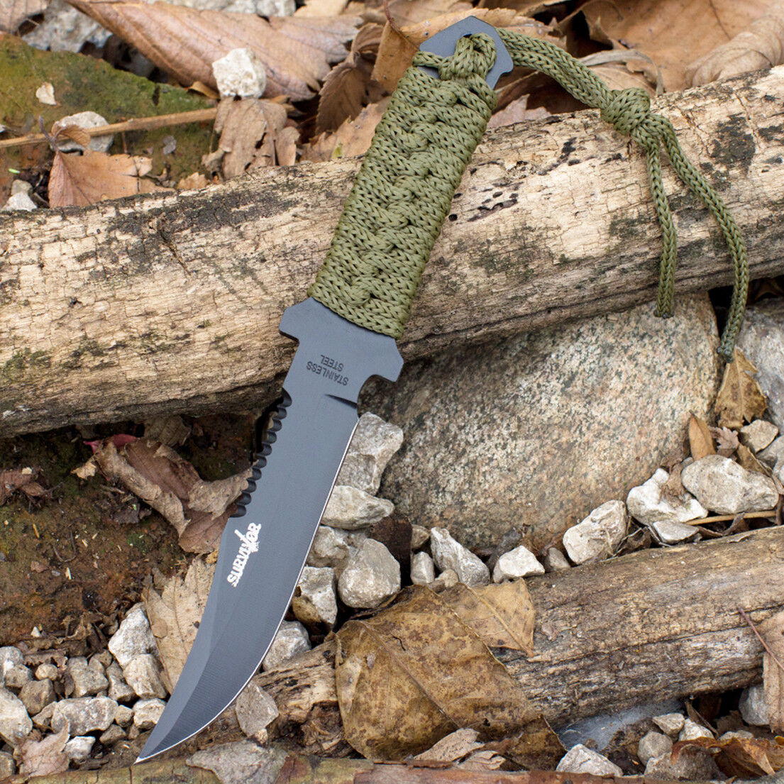 """7.5"""" TACTICAL COMBAT BOWIE FIXED BLADE HUNTING KNIFE Throwing Survival Military"""