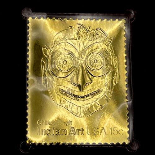 22k Indian Mask Art Chilkat Tlingit Bradbury Thompson 1980 Replica BD23