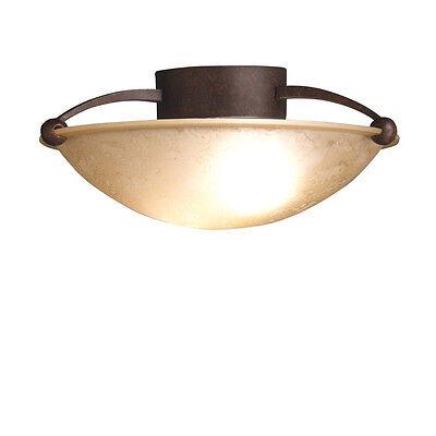 (Kichler Lighting 8405TZ 2-Light Semi-Flush Ceiling Light, Tannery Bronze)