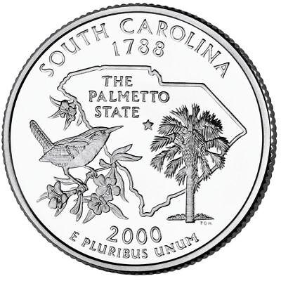Carolina State Quarter Coin (2000 P South Carolina State Quarter,Circulated Coin, Finish Your Coin Book #0092 )