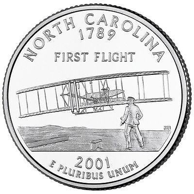 2001 P North Carolina State Quarter -