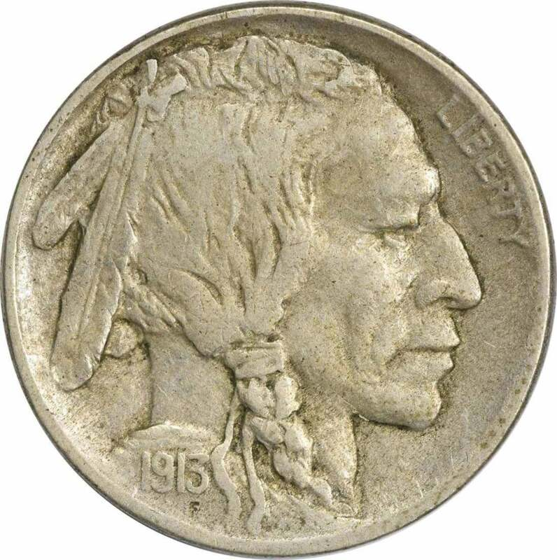 1913-D Buffalo Nickel Type 1 VF Uncertified