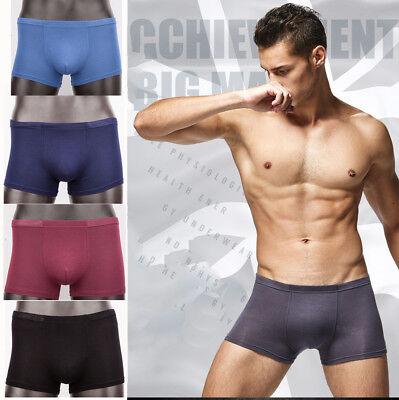 (Bamboo fiber Mens Underwear Boxer Briefs Shorts Bulge Pouch soft Underpants 2018)