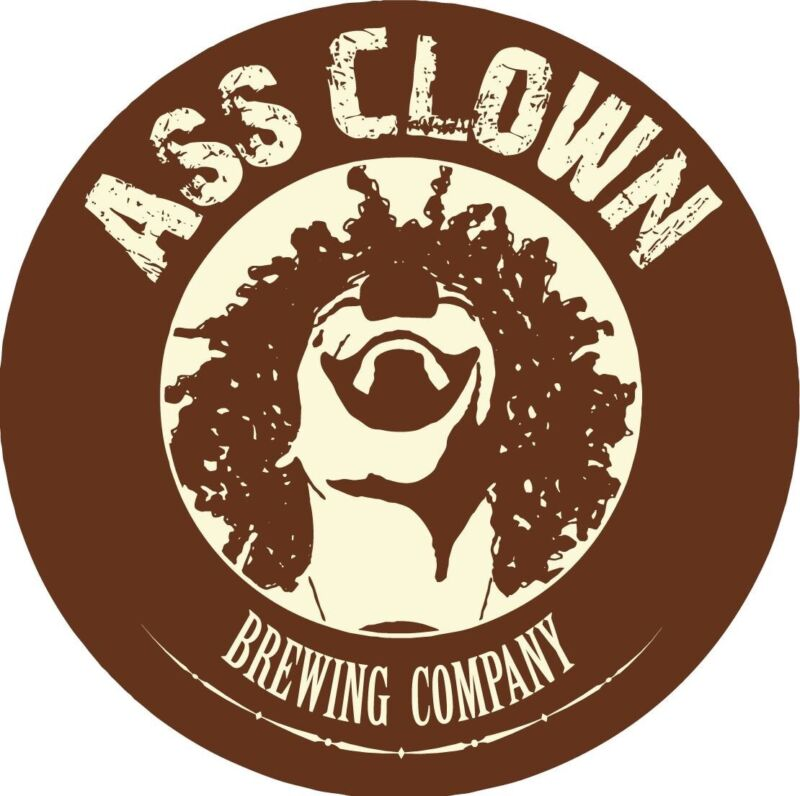 Ass Clown Brewing Company Sticker Beer Craft Brewery Micro Decal  Cornelius NC