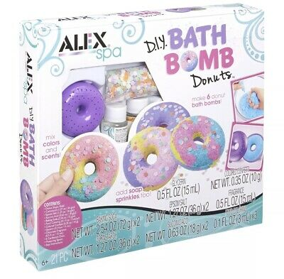 Cheap Girl Stuff (DIY Things For Kids Bath Bombs Kit Girls Donuts Bathbomb Cheap Spa Day Set)