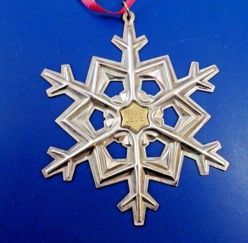 Sterling Silver 1989 Gorham Snowflake Ornament in Original Box #8048