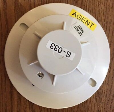 Fenwal Psd-7152 Photoelectric Smoke Detector Head With Base. Fire Alarm.