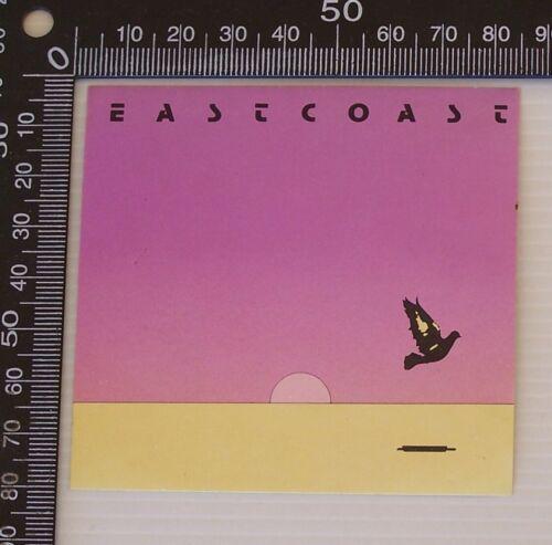 VINTAGE EASTCOAST BEVERAGES AUSTRALIA SOUVENIR PROMO ADVERTISING BUMPER STICKER