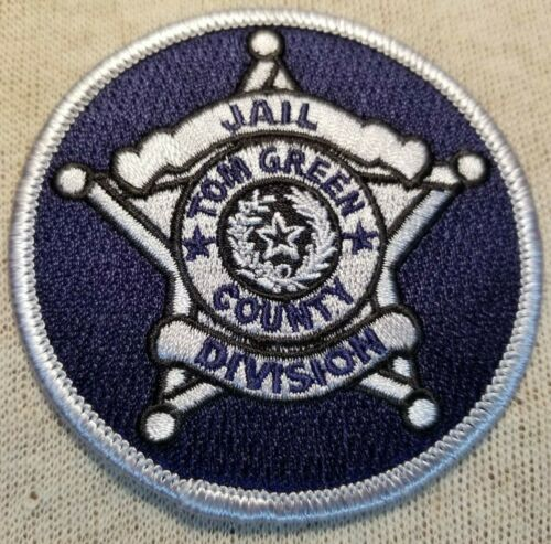 TX Tom Green County Texas Jail Division Patch (3In)