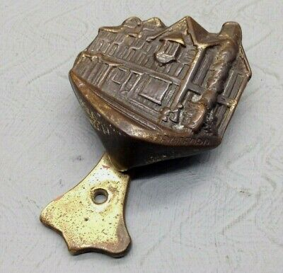 Lovely Very Rare Vintage Shakespears House Stratford Brass Door Knocker SU1954