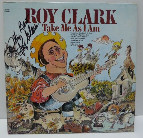Roy Clark Take Me As I Am Signed Autographed LP Album PSA or Beckett Guaranteed