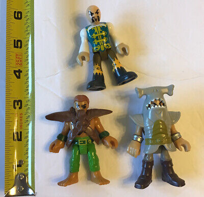 Fisher Price Imaginext Pirate Lot 3 Figures Davy Jones Shark Tunic Captain Kidd