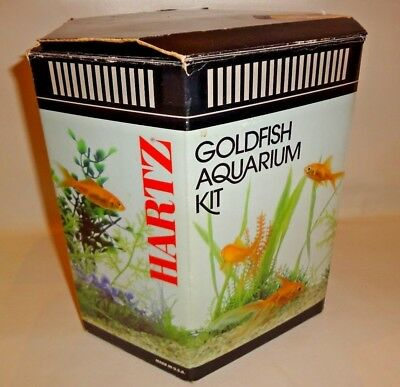 NEW IN BOX HARTZ GOLDFISH AQUARIUM START KIT 1 GALLON HEXAGONAL