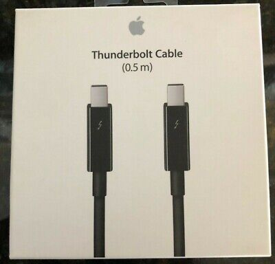 Apple Thunderbolt Cable (0.5 m) - Black  mf640zm/a GENUINE NEW SEALED