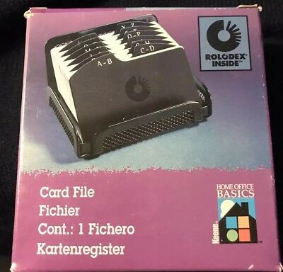 Rolodex Address Phone File Home Office Organizer Black Mesh Metal Nip