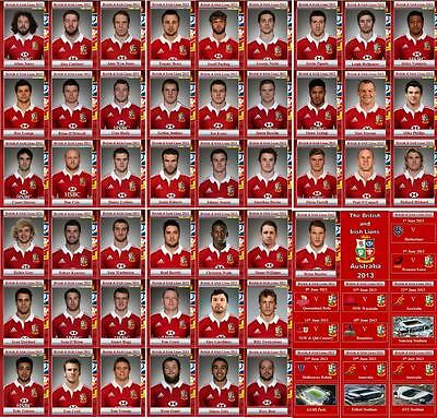 British and Irish Lions tour of Australia 2013 Rugby Trading Cards
