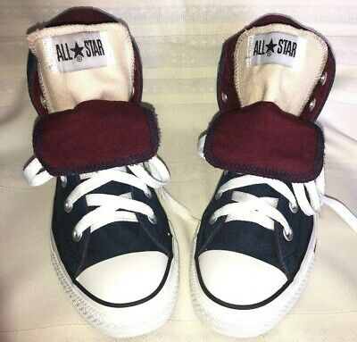 Converse Chuck Taylor All Star Navy & Burgundy & beige double tongue Man Size 4 - Converse Chuck Taylor Double Tongue