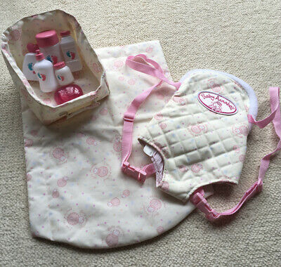 BABY ANNABELL DOLL CARRIER CHANGE MAT & ACCESSORIES BUNDLE. ZAPF. FAB CONDITION.