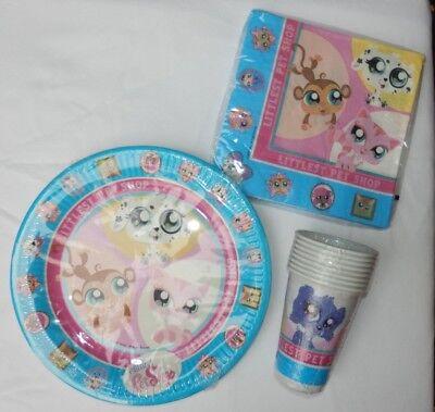 Littlest Pet Shop Party Set for 8 People (Plates, Cups, - Littlest Pet Shop Plates