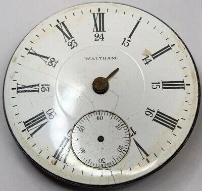 Waltham PS Bartlett Pocket Watch Movement 17j 18s 1883 openface parts F3225